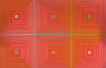 Six Squares 1969 Limited Edition Print by Richard Anuszkiewicz