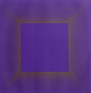 Midnight Suite (Purple With Silver) 1979 Limited Edition Print by Richard Anuszkiewicz