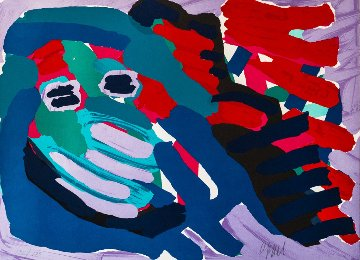 Another Blue Head Again 1978 Limited Edition Print by Karel Appel