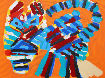 Sunshine Cat From the Cats Portfolio 1978 Limited Edition Print by Karel Appel