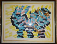 Encounter in Yellow Field HC 1986 Limited Edition Print by Karel Appel - 2