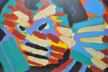 Fighting Cat AP 1979 Limited Edition Print - Karel Appel