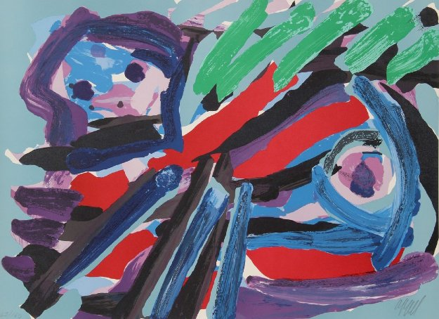 Walking With My Bird 1979 Limited Edition Print by Karel Appel
