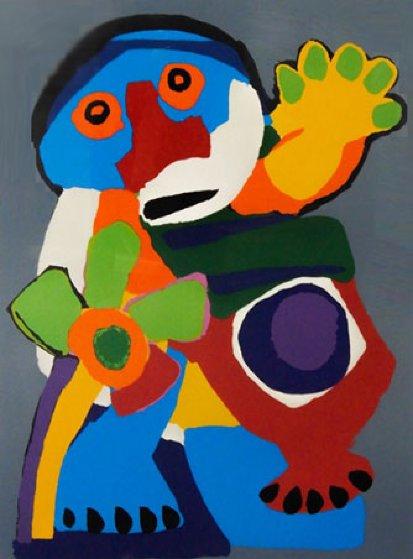 Personnage Avec Fleur  Limited Edition Print by Karel Appel