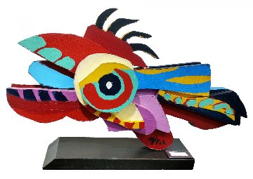 Flying Fish Wood Sculpture 1977 32 in Sculpture by Karel Appel