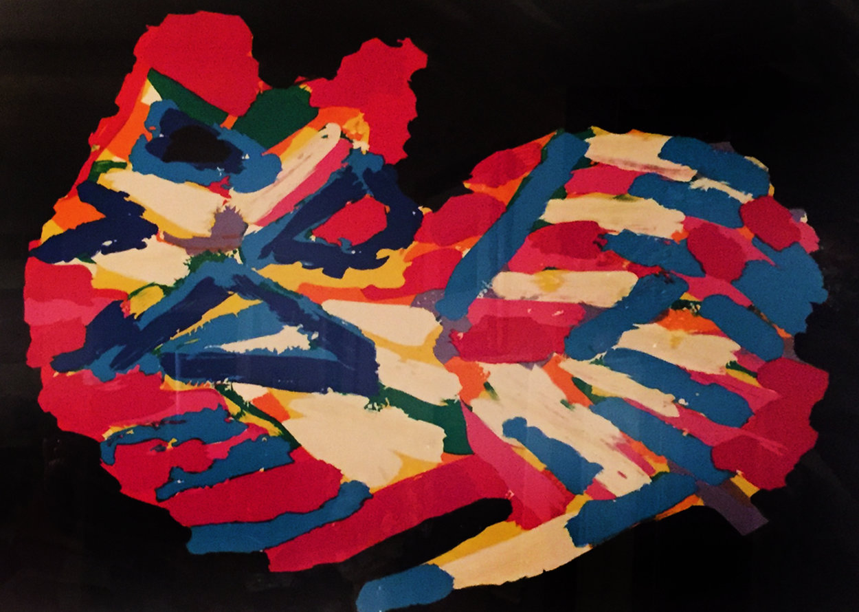 Sleeping Cat 1978 Limited Edition Print by Karel Appel