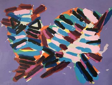 Cat Series: Innocent Cat 1978 Limited Edition Print - Karel Appel