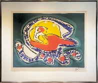 Large Green Etching 1976 Limited Edition Print by Karel Appel - 1
