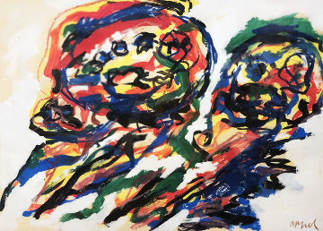 Two Heads Limited Edition Print by Karel Appel