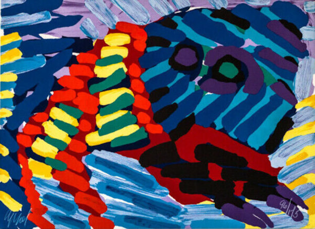 See Me Running 1978 Limited Edition Print by Karel Appel