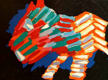 Cat in the Night 1978 Limited Edition Print - Karel Appel