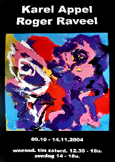 Poster For Exhibition Appel / Raveel Poster 2004 HS Limited Edition Print - Karel Appel