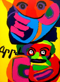 Two Faces 1973 Limited Edition Print - Karel Appel