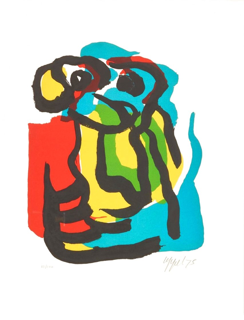 T. V. Blues 1975 Limited Edition Print by Karel Appel