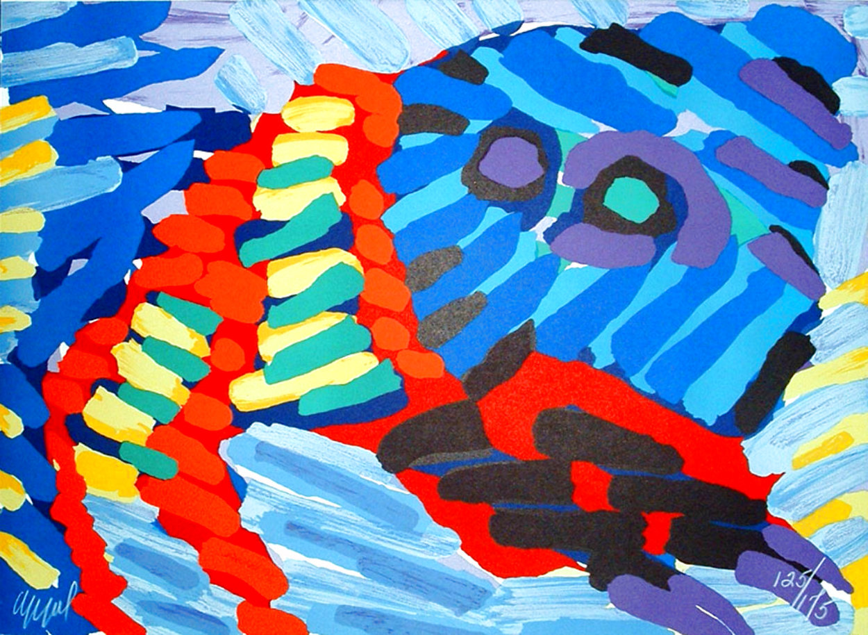 Animals And Monsters Series: Clown Cat 1979 Limited Edition Print by Karel Appel