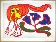 Floating Flower Passion (Silver) EA 1978 Limited Edition Print by Karel Appel - 1