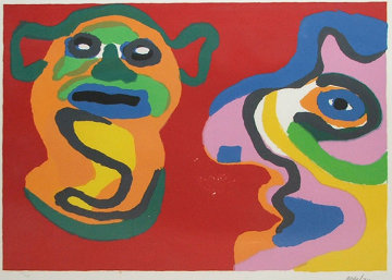 Waiting for the Second Kiss 1974 Limited Edition Print by Karel Appel