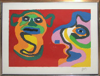 Waiting for the Second Kiss 1974 Limited Edition Print by Karel Appel - 1