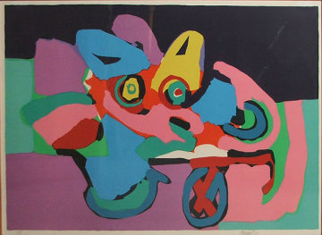 Flower Cart 1971 Limited Edition Print - Karel Appel