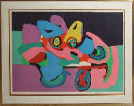 Flower Cart 1971 Limited Edition Print by Karel Appel - 1