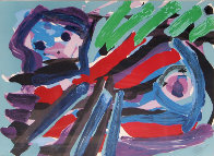 Walking with My Bird 1979 Limited Edition Print by Karel Appel - 0