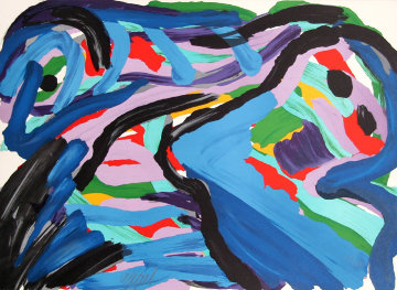 Floating in a Landscape 1980 Limited Edition Print by Karel Appel