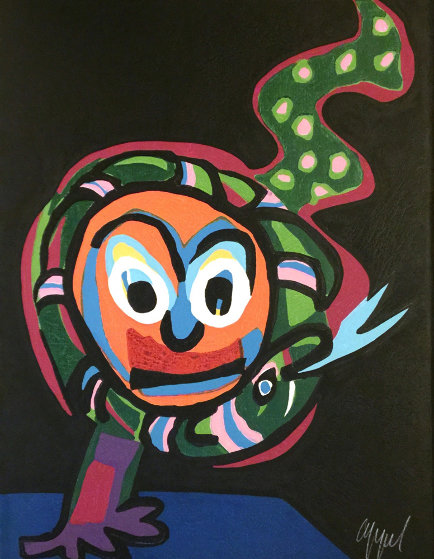 Clown With Snake #14 1978 Limited Edition Print by Karel Appel