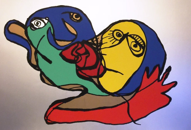 Silver Kiss 1977 Limited Edition Print by Karel Appel