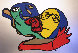 Silver Kiss 1977 Limited Edition Print by Karel Appel - 0