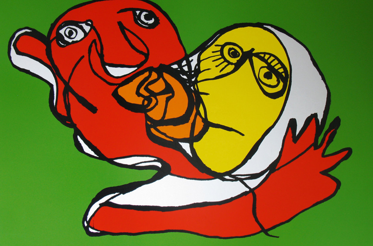 Putting Green Kiss 1978 Limited Edition Print by Karel Appel