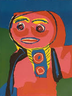 Fille Souliante 1969 Limited Edition Print by Karel Appel