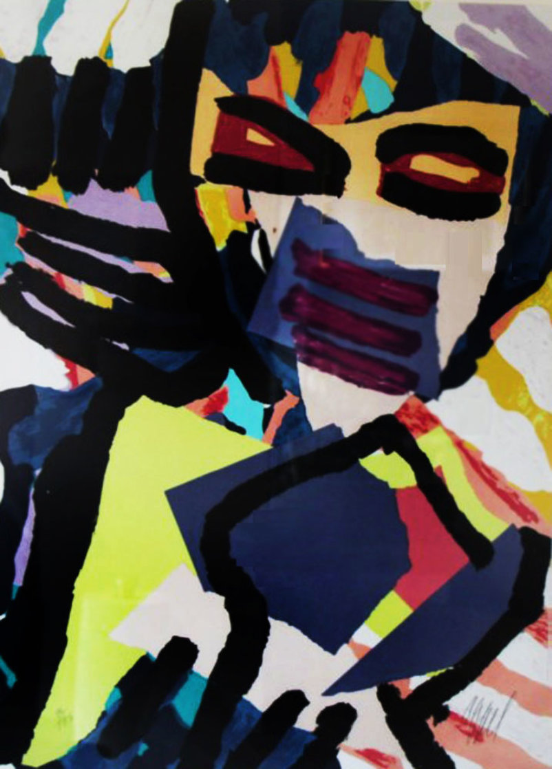 Personage in Blue 1980 Limited Edition Print by Karel Appel