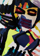 Personage in Blue 1980 Limited Edition Print by Karel Appel - 0
