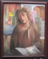 Student 22x18 Original Painting by Arbe Berberyan    - 1