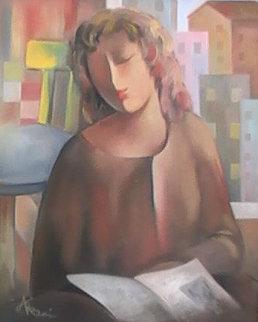 Student 22x18 Original Painting - Arbe Berberyan