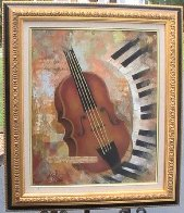 Instruments of Time 26x22 Original Painting by Arbe Berberyan    - 1
