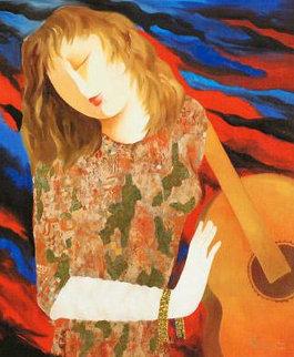Waves of Music AP 2009 Embellished Limited Edition Print - Arbe Berberyan