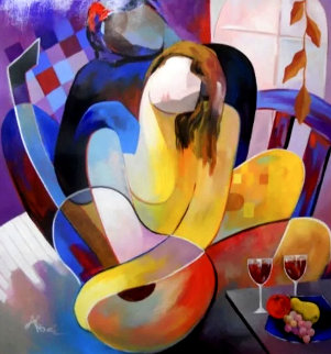 Homage to Picasso 2015 52x48 Original Painting by Arbe Berberyan