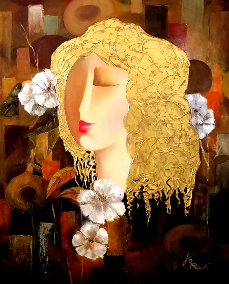 Secret Love 2006 35x31 Original Painting by Arbe Berberyan