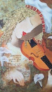 Protege 2005 38x33 Original Painting - Arbe Berberyan