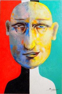 Of Two Minds 2018 36x24 Original Painting - Arbe Berberyan