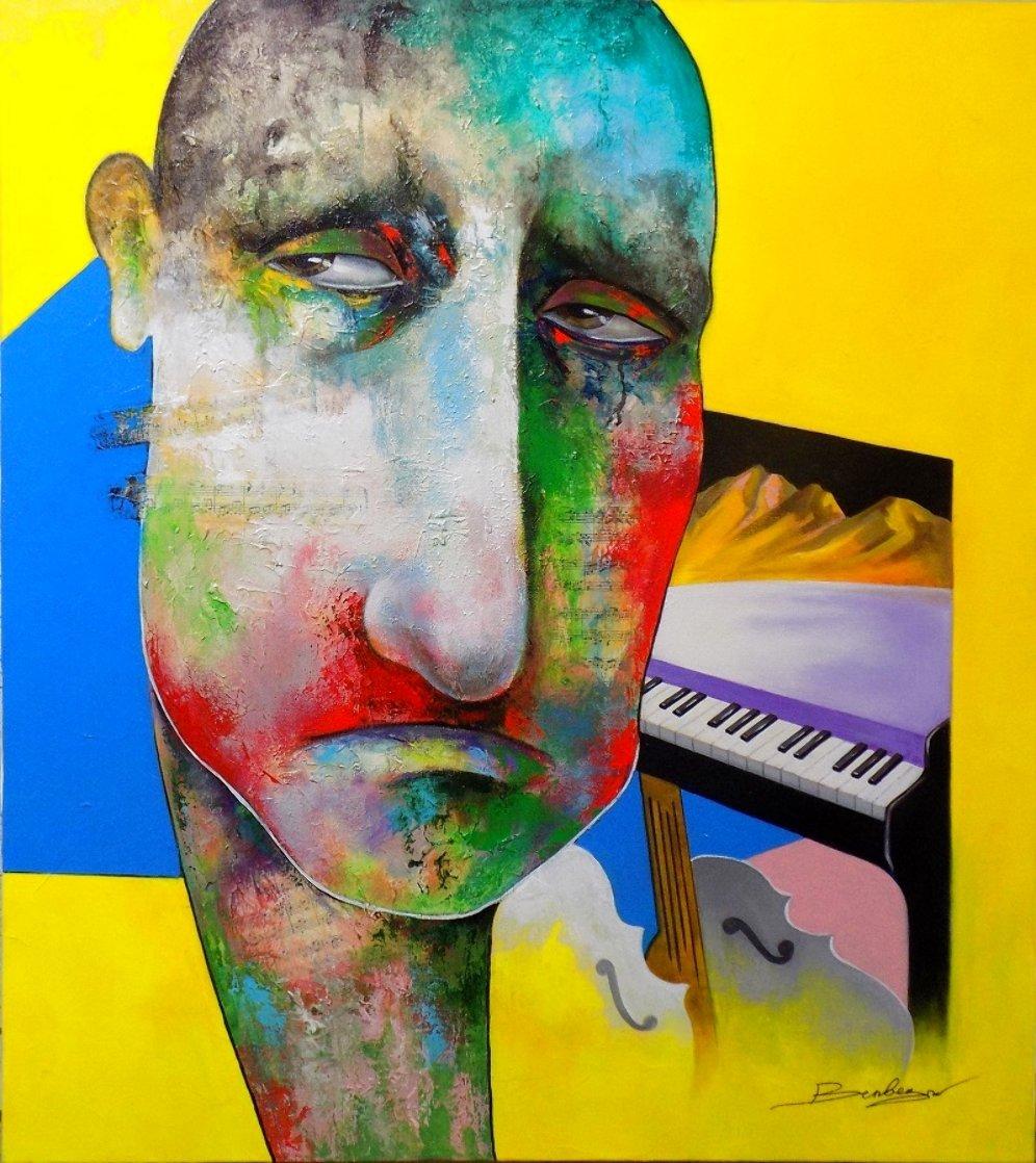 Mind of the Musician 2018 36x32 Original Painting by Arbe Berberyan