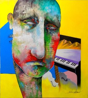 Mind of the Musician 2018 36x32 Original Painting - Arbe Berberyan