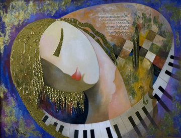 It's Music To My Heart 2009 Embellished  Limited Edition Print by Arbe Berberyan
