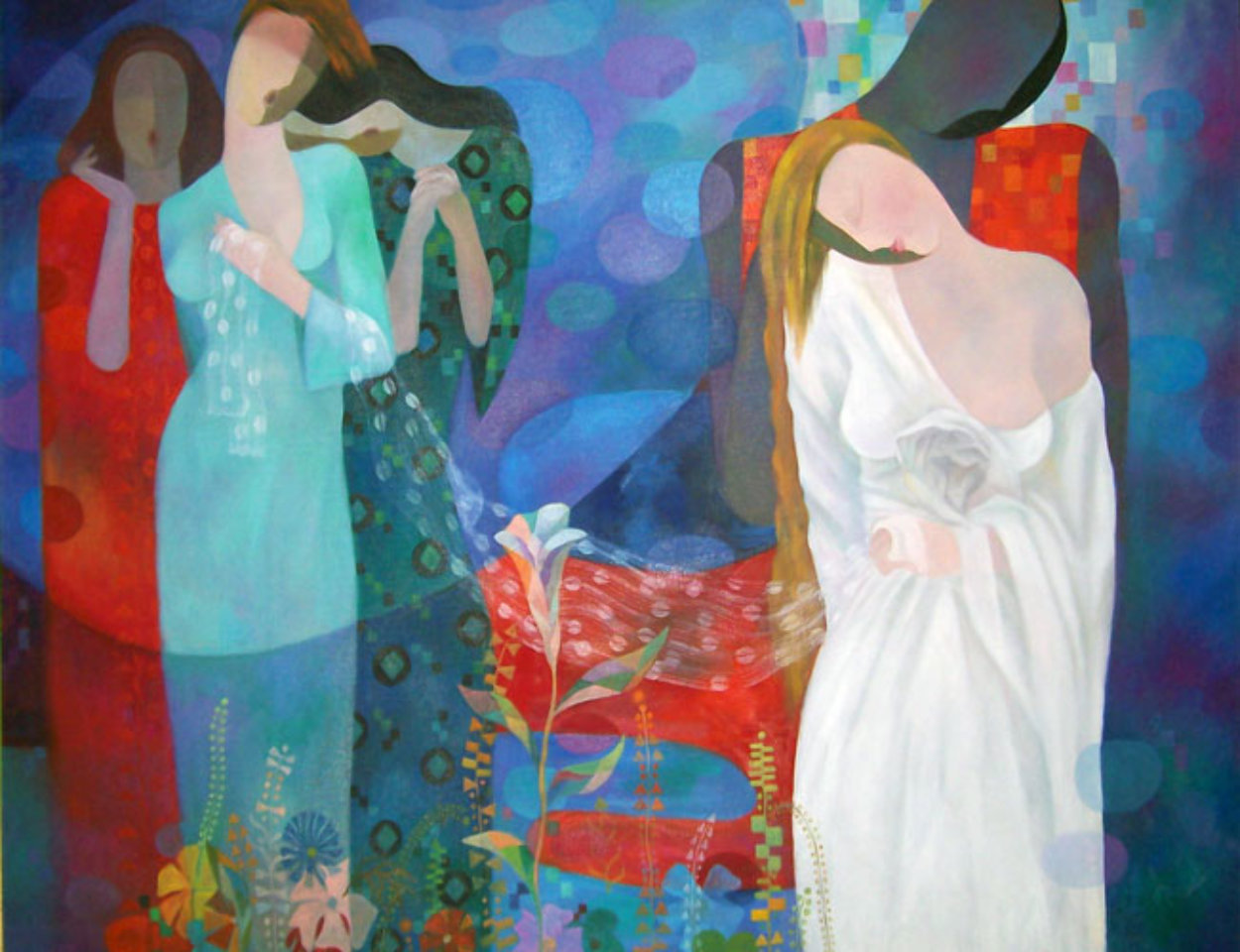 Love Song 36x48  Huge Original Painting by Arbe Berberyan