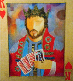 King of Hearts AP Embellished Limited Edition Print by Arbe Berberyan
