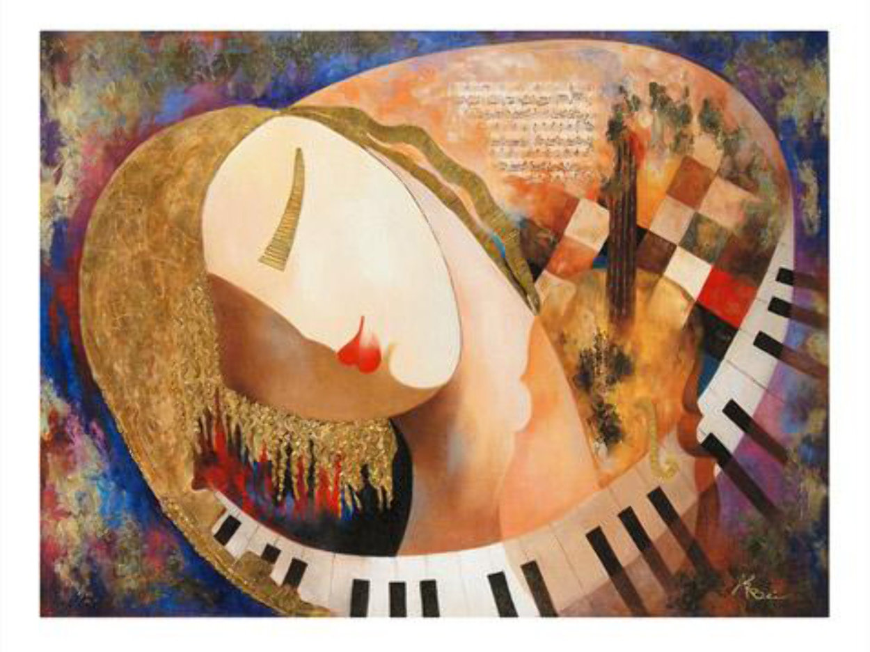 It's Music to My Heart 2010 Embellished Limited Edition Print by Arbe Berberyan