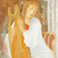 Strings of My Heart 22x28 Original Painting by Arbe Berberyan    - 0