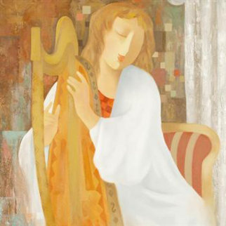 Strings of My Heart 22x28 Original Painting - Arbe Berberyan