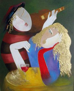 Encouragement 2006 Original Painting - Arbe Berberyan